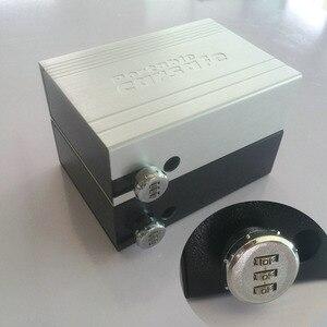 Image 1 - ポータブル車の安全ボックスパスワードロック室内金庫ジュエリー現金ピストル収納ボックスアルミ合金セキュリティ金庫ワイヤーロープ固定