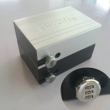 Portable Car Safe Box Password Lock Safes Jewelry Cash Pistol Storage Boxes Aluminum alloy Security Strongbox Wire Rope Fixed(China)
