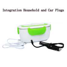 220V/110V US Plug / EU And Car Stainless Steel Electric Lunch Box Integration of Household Plugs