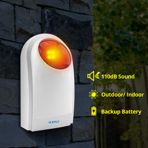 Image 2 - KERUI 433MHz 110dB Wireless Flashing Siren Sensor Alarm with F8 Transmitter Working for Home Security Alarm System