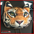 Animal 3D Tiger Car Seat Pillow Head Neck Set American Puma Tiger Leopard Head Support Pillow Cotton Auto Head Neck Rest Cushion