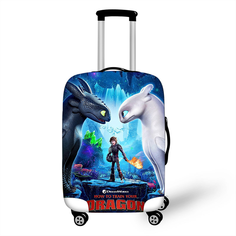 18-32 Inch How To Train Your Dragon 3 Elastic Luggage Protective Cover Trolley Suitcase Protect Dust Bag Case Travel Accessories