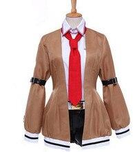 Steins puerta makise kurisu cosplay disfraces para mujeres cosplay steins puerta makise kurisu anime trajes para las mujeres