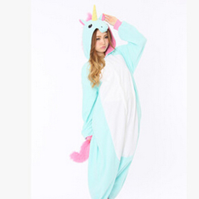 a0f8a432011f Unicorn Adult Pink Blue Unicorn onesie costume Women Men animal pyjama  Jumpsuit party halloween cosplay costume
