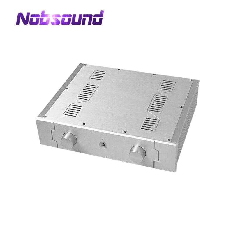 Nobsound amplificateur aluminium châssis fusionner boîtier préampli coffret argent