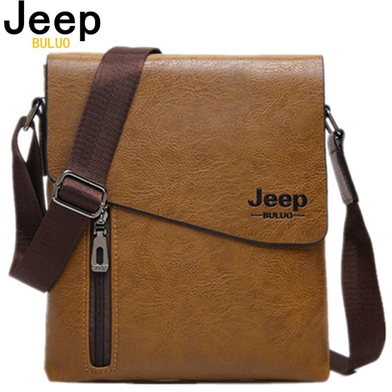 Скура сумка высокай якасці JEEP BULUO Новы стыль чалавека Пасланца Сумкі для мужчын Мода Crossbody пляча сумкі Hobos 1502