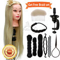 26inch Professional Blonde Hair Styling Training Head High Temperature Manequin for Hairdressing With Free Braid Sets B20
