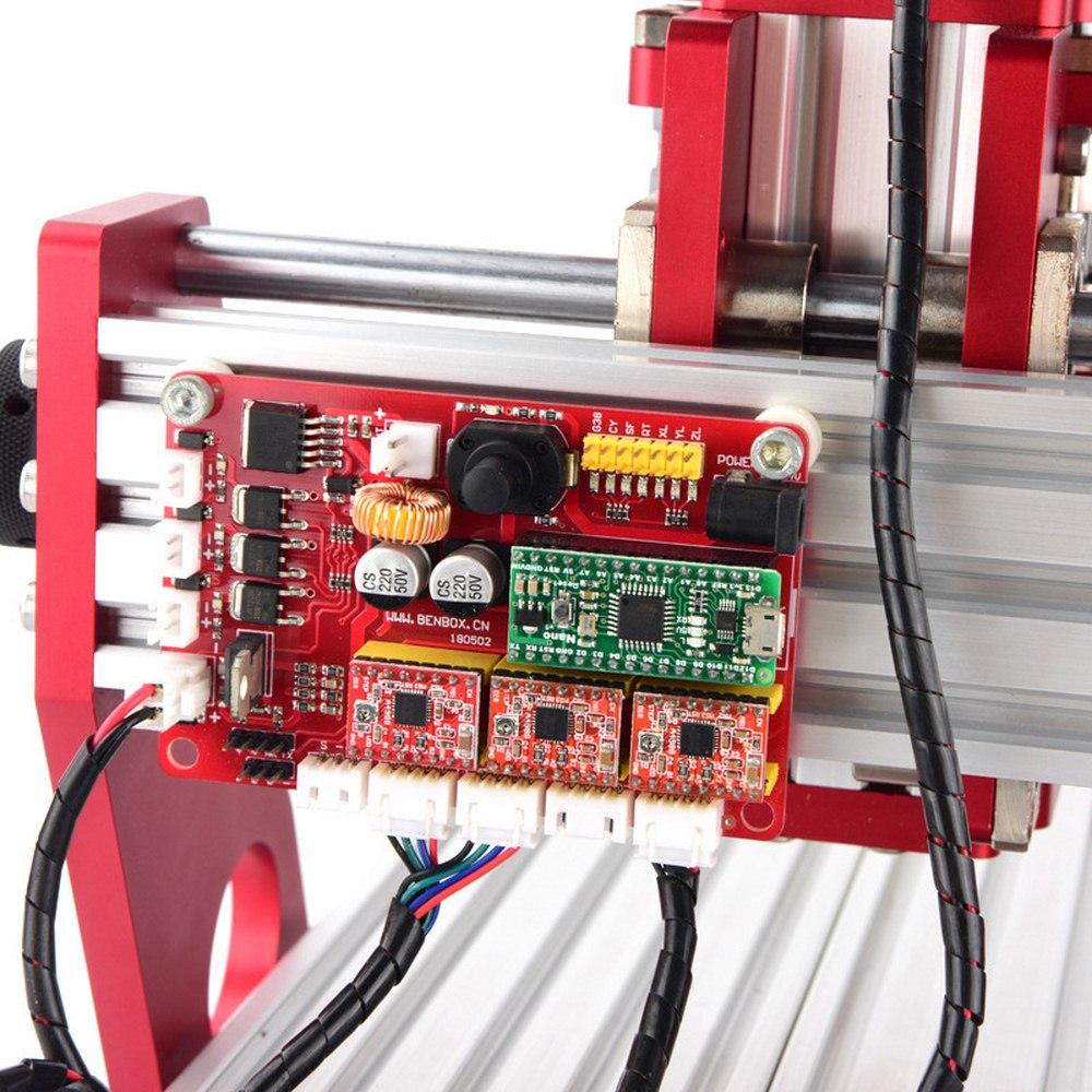 CNC 1419 en aluminium coupe pcb Machine de gravure petites Machines de CNC pour fer de bureau en métal cuivre bois Route outil de gravure - 5