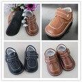 2016 Мальчик Натуральная Кожа Squeaky Shoes Children Shoes Звучит Outsole Kids Leather Shoes Бесплатная Доставка