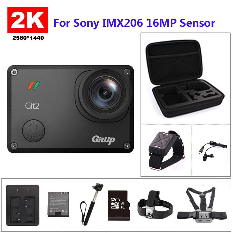 Prix pour Gitup git2 wifi 2 k sport dv pro full hd 1080 p 30 m étanche mini caméscope 1.5 pouce novatek 96660 camera action