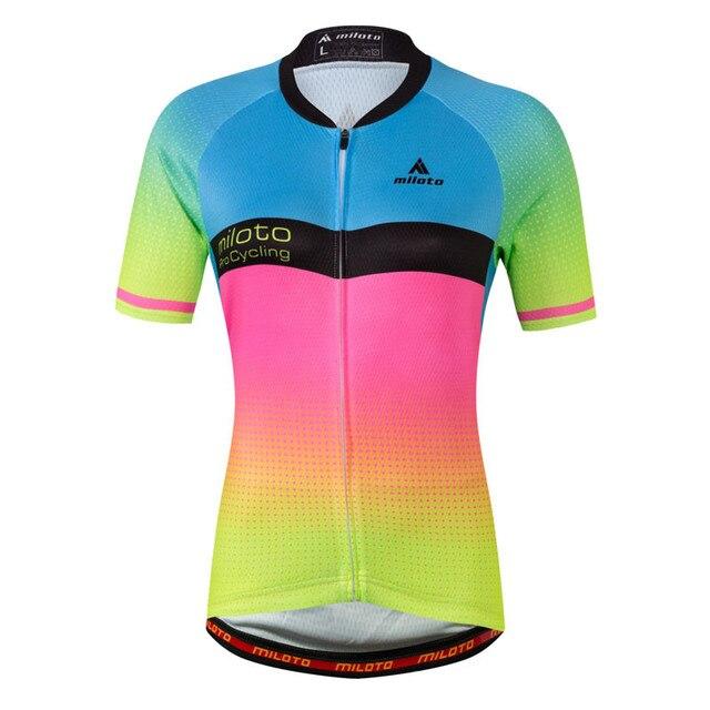 MILOTO Cycling Jersey 2017 Summer Women Bicycle Cycling Clothing mtb Bike  Jersey Shirt Top Breathable Cycling 9920b71fb