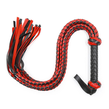 HOT Sell Bull Whip 8 Soft Leather and Suede Braided Tails Equestrian Horse Sport Whips Horse Crops flogger A(China)