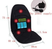 free shipping 5 motors vibrating massager cushion, vibrating massager matress with 5 motors, far infrated heat massager
