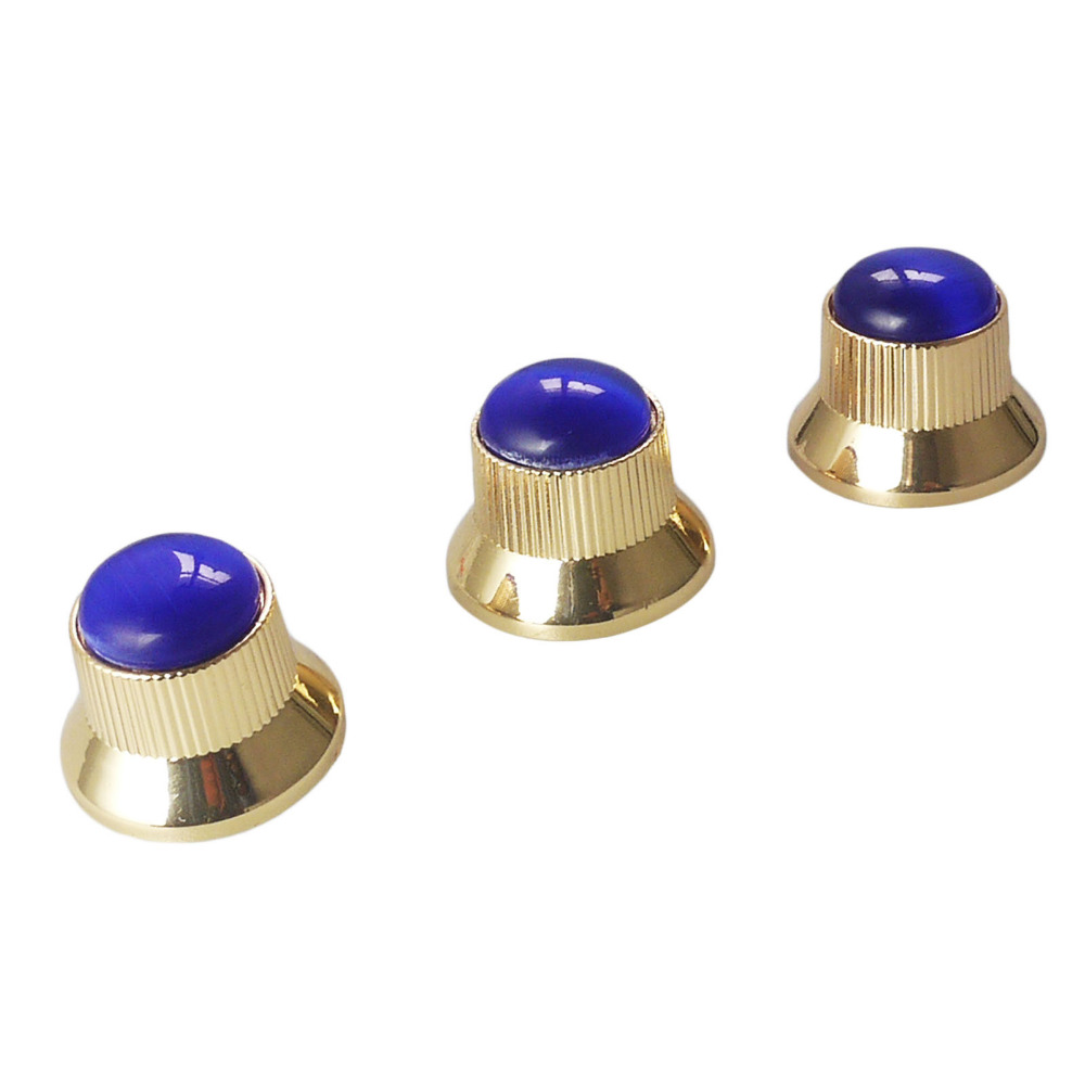 buy blue electric guitar knobs 3 pcs cool volume tone control stone and metal. Black Bedroom Furniture Sets. Home Design Ideas