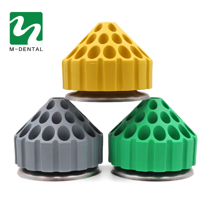 1pc Dental Plastic Bur Holder Block Case 35 Holes 360 Degree Rotating Storage Box Dental Material For Dental Lab
