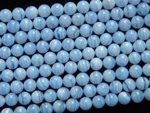 Encanto natural Brasil 8mm encaje azul calcedonia granos flojos redondos al por mayor freeshipping