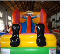 Hot sale clown inflatable slide air bouncer slide for kids inflatable game