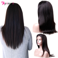 Piaoyi Peruvian Straight 13*4 Lace Front Human Hair Wigs 130% 150% Front Lace Wigs With Baby Hair Pre Plucked Natural Hairline