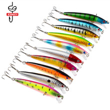 Fishing Lure for Bass Hard Lures Minnow Bait Artificial 8.5g/9.5cm 10 Color