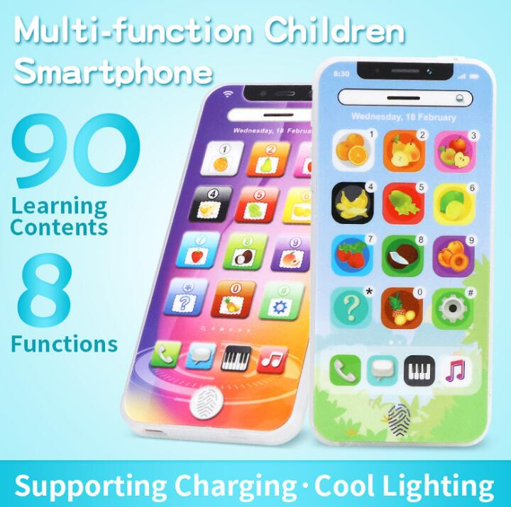 NEW Touch Screen Multi-Functional Toy-phone English Learning Playmobil With Dazzle Colored Light Kid Children's Toys