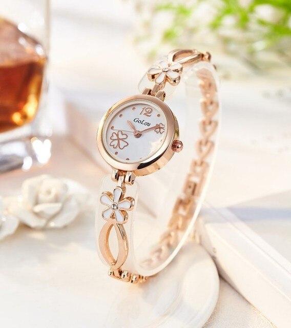 c893839c6 Fashion Women Elegant Bracelet Watch Analog Quartz Thin Stainless Steel  Band Bangle Round Dial Dress Wrist