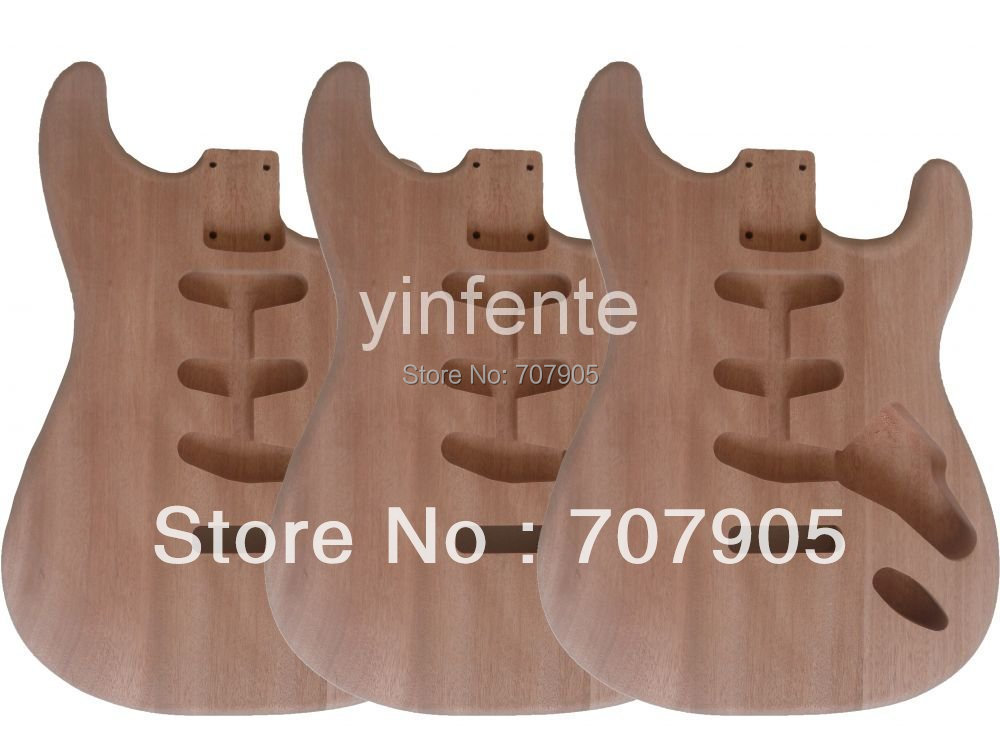 3 pcs New High Quality Unfinished electric guitar body Mahogany body model стоимость