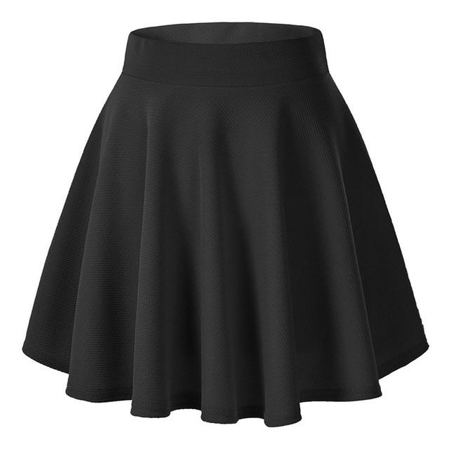 a6803d0d5 Women's Skater Skirts Pleated Skirt Flared A Line Circle Stretch Waist  Skater Skirt Korean Mini Skirt Plus Size jupe femme