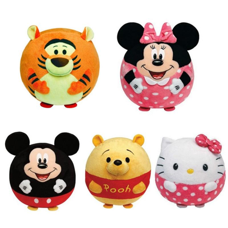 Cartoon Baby rattle mobile Soft ball tiger kitty plush stuffed ring bell toy toddler newborn jouet