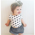 2016 SUMMER BABY GIRL CLOTHES GIRLS STRIPE SHORTS+ dot t shirts  PCS CLOTHING SETS INFANT VESTIDOS INS HOT BEBE new born baby