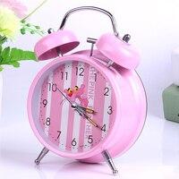 Pink Cartoon Bedside Kids Alarm Clock Children Talking Cube Wake Digital Clock Mechanism Mesa De Som Table Night Watch 40N0103