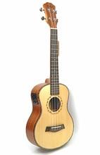26 tenor Spruce Solid Wood ukulele Electric 4 Strings  Hawaii mini small guita travel ukelele acoustic guitar Uke Concert