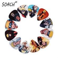SOACH 10 шт. 3 вида толщины новые медиаторы для гитары бас японского аниме Uzumaki Naruto фотографии качество печати аксессуары для гитары