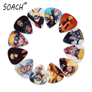 SOACH 10pcs 3 kinds of thickness new guitar picks bass Japanese anime Uzumaki Naruto pictures quality print Guitar accessories