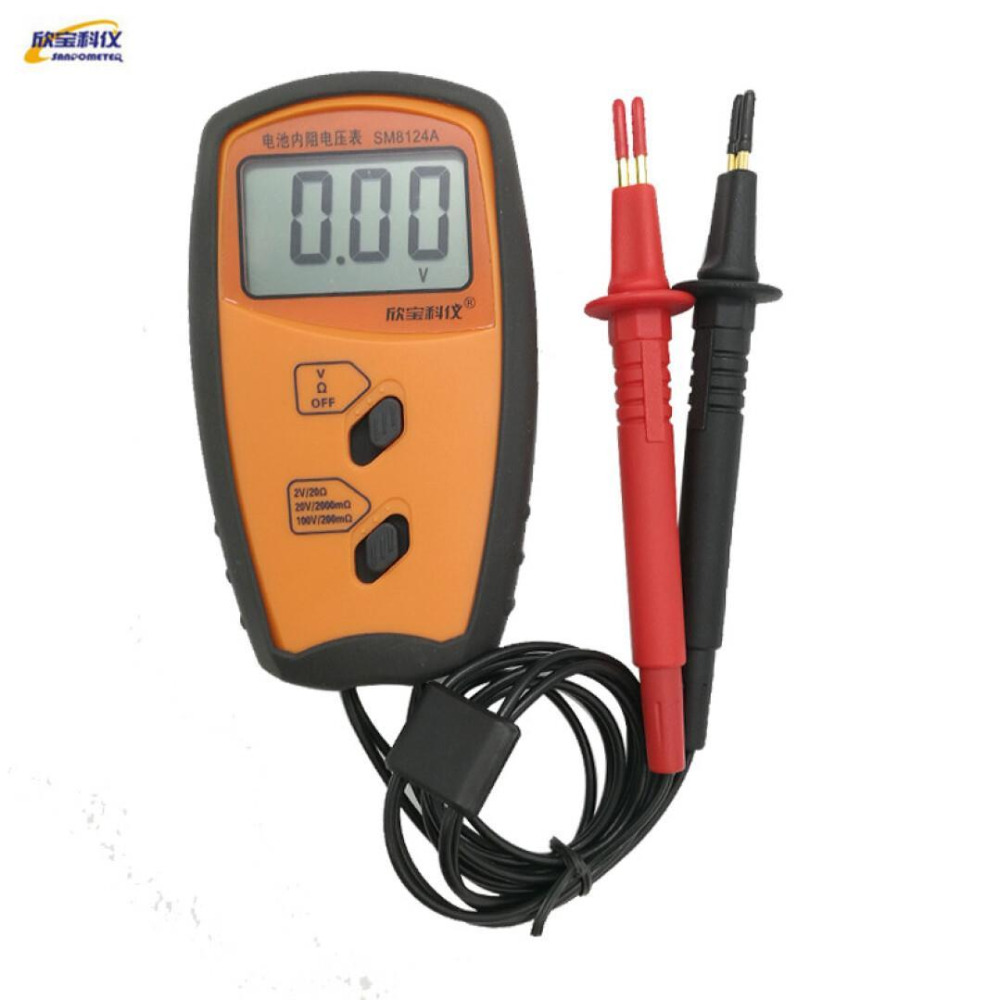 Battery Resistance Voltmeter Internal Impedance Meter Resistance Tester