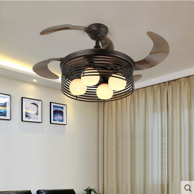 American country retro invisible ceiling fan lights 4236inches american country retro invisible ceiling fan lights 4236inches home restaurant living room ceiling fan mozeypictures Image collections