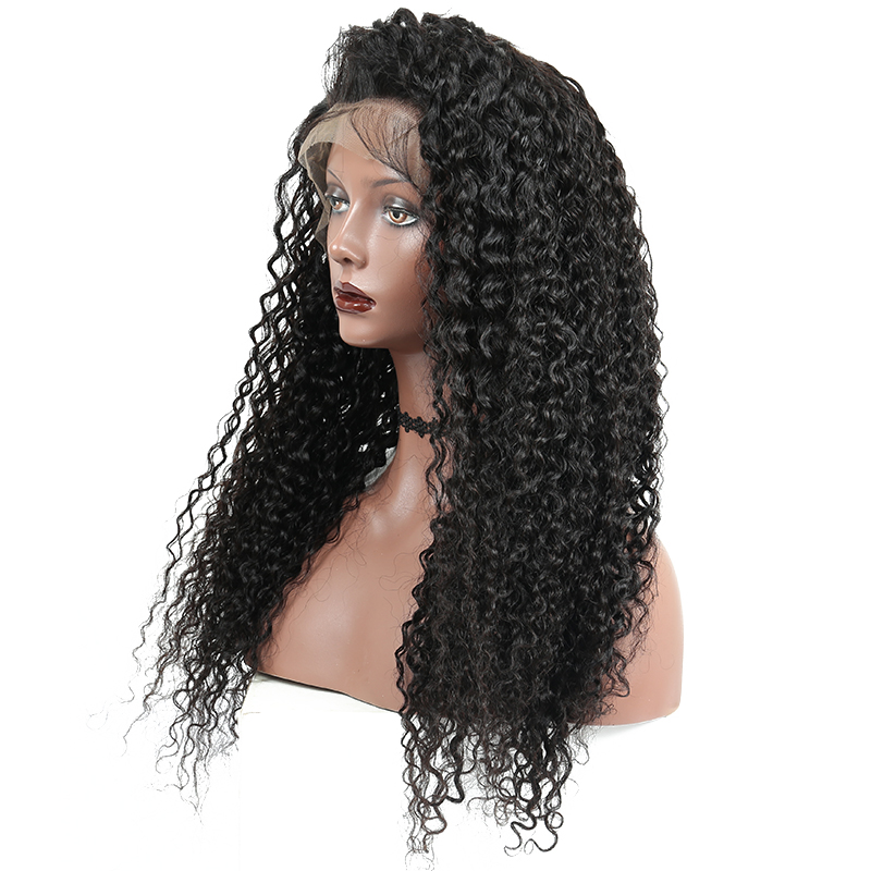 Full Lace Human Hair Wigs For Black Women With Baby Hair Pre Plucked Brazilian Kinky Curly Non-remy Hair Bleached Knots You May