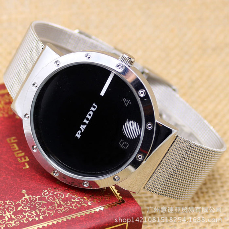 New Fashion Brand Black White Turntable Creative Number Dial Design Mens Women Casuacal Mesh Stainless Steel Band Sports Watches
