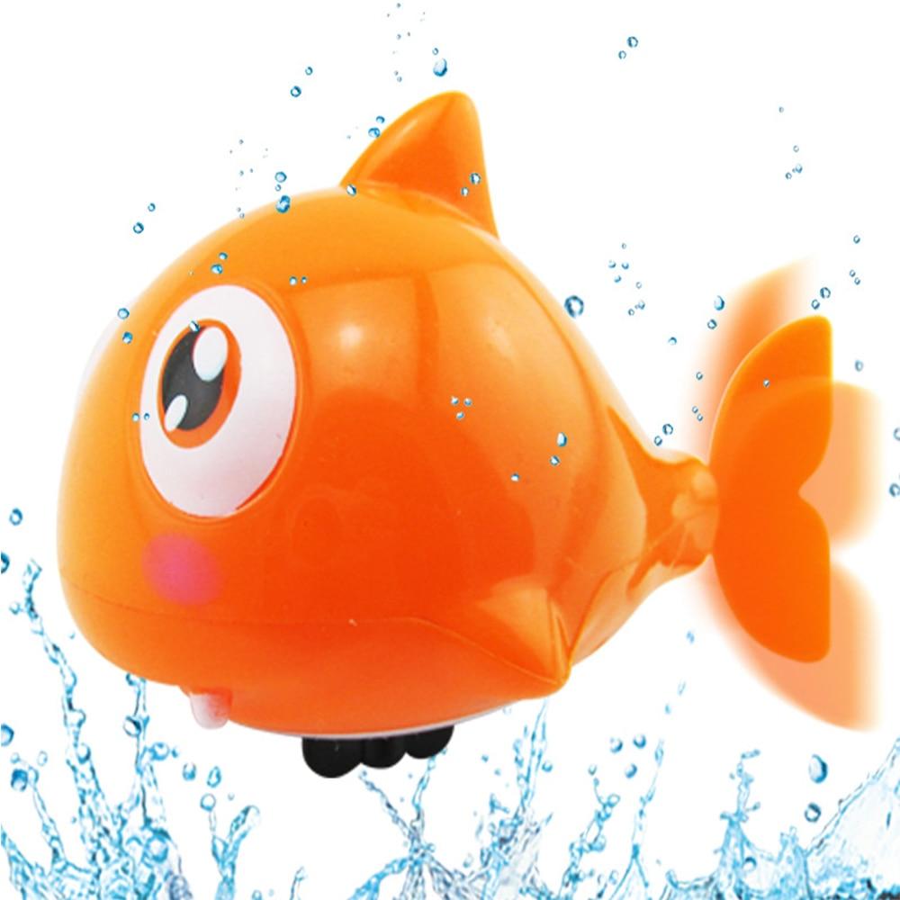 Cute Cartoon Funny Baby Bath Toy Swimming Animal Fish Clockwork Wind Kaos Ikan Hiu Shark Up Plastic Pool Toys Kids Gift In From Hobbies On