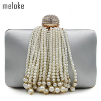 2017 High Quality Women Pearl Tassel Evening Bags Brand Wedding Dinner Bags With Chain Party Dinner