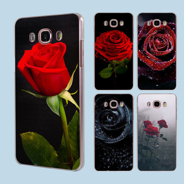 Red Rose Flowers HD Wallpaper Transparent Clear Hard Case Cover For Samsung Galaxy J1 J2 J3