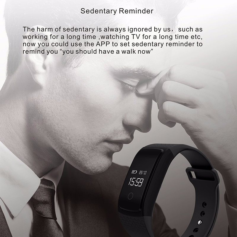 Heart rate monitor Smart watch Blood Pressure monitor Sport Smartwatch Call reminder Anti-lost Wristwatch For iOS Android Phone