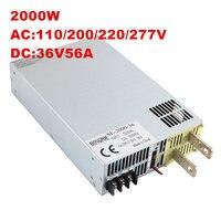 2000 Вт 55A 36 В Питание 36 В 55A Выход Напряжение Ток Регулируемый AC DC 0 5 В аналогового сигнала управления DC36V 0 36 В