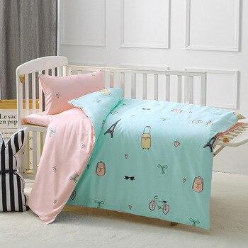 5f7caac5c 3 piezas conjunto para cama de bebé cuna ropa de cama Bebé Ropa de cama  diseño de dibujos animados para Niños Niñas Ropa de cama edredón edredón  cubierta de ...