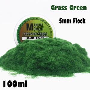 Miniature Scene Model Materia Grass Green Turf Flock Lawn Nylon Grass Powder STATIC GRASS 5MM Modeling Hobby Craft Accessory