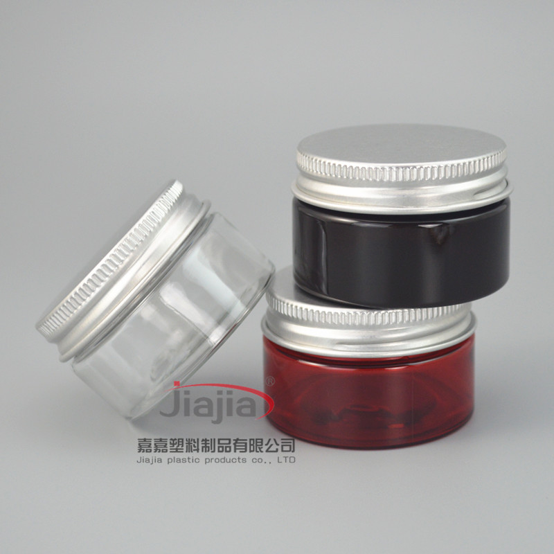 30 grams clear/brown/red PET Jar,30g PET Empty Cosmetic Cream Jar with Silver Aluminum Cap Makeup Packaging DIY Lotion Container-in Refillable Bottles from Beauty & Health on AliExpress - 11.11_Double 11_Singles' Day 1