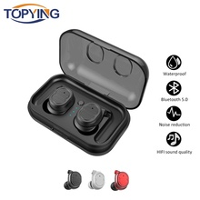 TOPYING Mini Wireless Bluetooth Earphone Magnetic Headphones 5-6 hours working For Iphone 6 7 8 X  with Mic