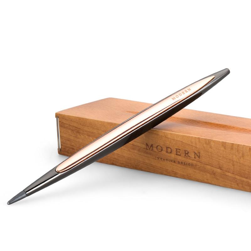 Stylo de luxe créatif Forever pour dessin croquis décoration métal argent noir stylo cadeau d'affaires avec une porte-stylo haut de gamme