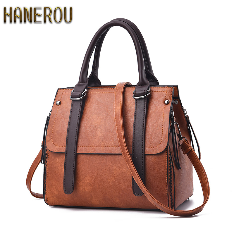 Fashion PU Leather Bag For Women Famous Brand Handbag 2017 Sac Femme Ladies Shoulder Crossbody Bag Casual Tote Bolsa Feminina  цена и фото