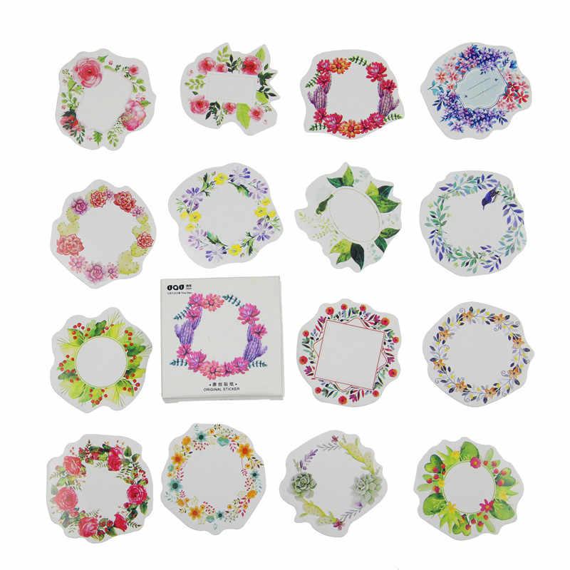 45 unids/pack flores tótem Memo Paquete de pegatinas Kawaii planificador pegatinas material de papelería escolar de la escuela suministros