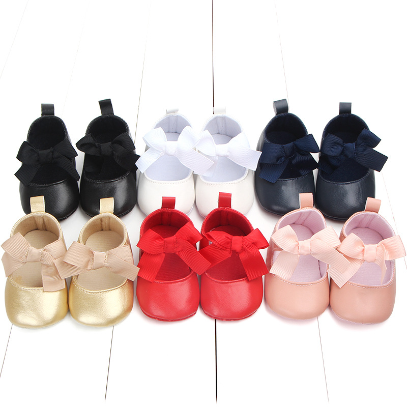 Drop shipping CYSINCOS Big Bow with Fringe Baby Shoes Genuine Leather Cute Warm with Fur Baby Moccasins Hard Sole Non-slip Soft
